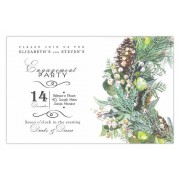 Christmas Invitations, Mixed Botanical, Odd Balls