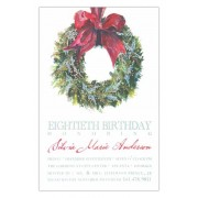 Christmas Invitations, Holly Wreath, Odd Balls