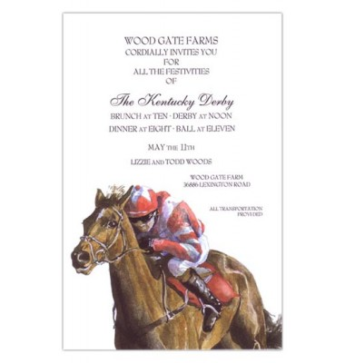 Horse Racing Invitations, Fast Filly, Odd Balls