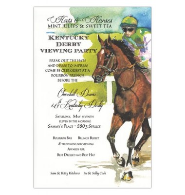 Horse Racing Invitations, Gallop, Odd Balls