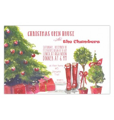 Christmas Invitations, Red E For Christmas, Odd Balls