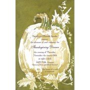 Thanksgiving & Fall Invitations, White Pumpkin, Odd Balls