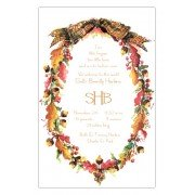 Thanksgiving & Fall Invitations, Oak Wreath, Odd Balls