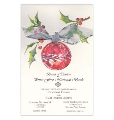 Christmas Invitations, Hung on Holly, Odd Balls