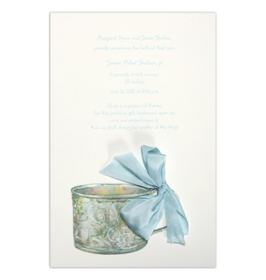Baby Shower Invitations, Baby Cup Blue, Odd Balls Invitations