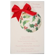 Christmas Invitations, Holly Ornament, Odd Balls Invitations