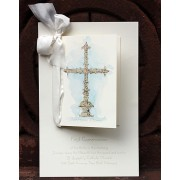 Baptism Invitations, Silver Cross, Odd Balls