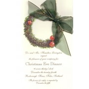 Christmas Invitations, Pewter Wreath, Odd Balls Invitations