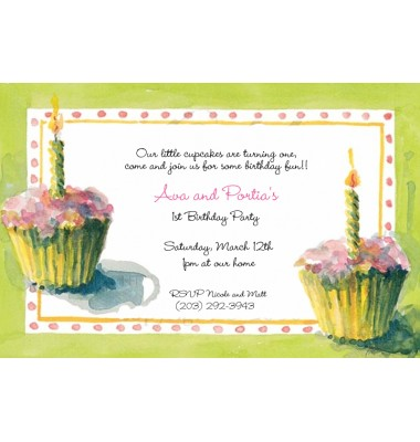 Birthday Invitations, Cupcakes, Odd Balls