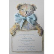 Baby Shower Invitations, Tebbie Bear Blue, Odd Balls