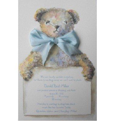 Baby Shower Invitations, Tebbie Bear Blue, Odd Balls
