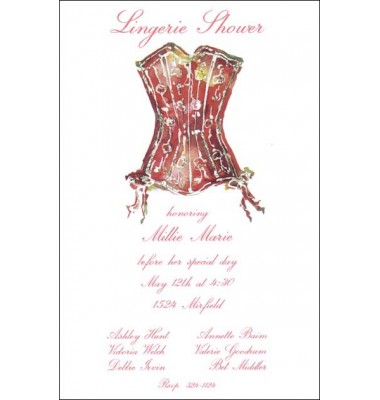 Lingerie Shower Invitations, Corset, Odd Balls