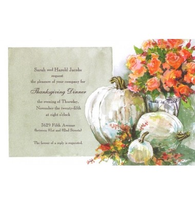 Thanksgiving And Fall Invitations, Ivory And Apricot, Odd Balls Invitations