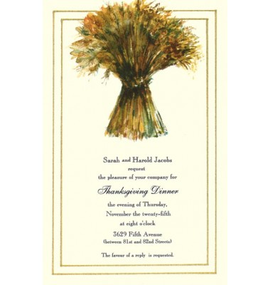 Thanksgiving And Fall Invitations, Bring In The Sheaves, Odd Balls Invitations