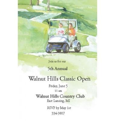 Golf Invitations, Golf Cart, Odd Balls
