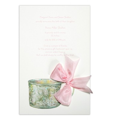 Baby Shower Invitations, Baby Cup Pink, Odd Balls Invitations