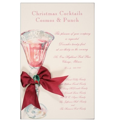 Christmas Cocktail Party Invitations, Christmas Punch, Odd Balls Invitations