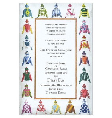 Horse Racing Invitations, Silks, Odd Balls