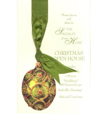 Christmas Invitations, Moss Ornament, Odd Balls Invitations