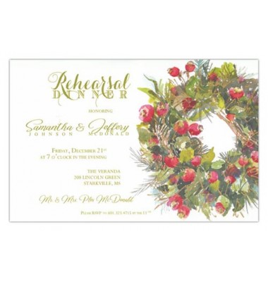 Christmas Invitations, Rose Hip Wreath, Odd Balls