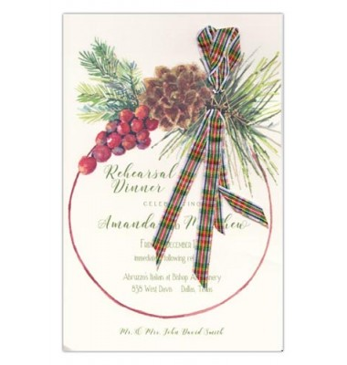 Christmas Invitations, Woodland Tartan, Odd Balls