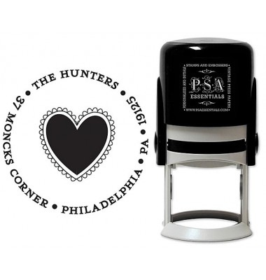 PSA Ink Stamp, Heart Lace