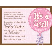 Baby Shower Invitations, It's A Girl