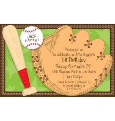 Baseball Invitations, Bat and Glove, Paper So Pretty