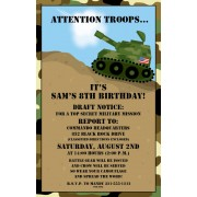 Army Tank Invitations, Paper So Pretty