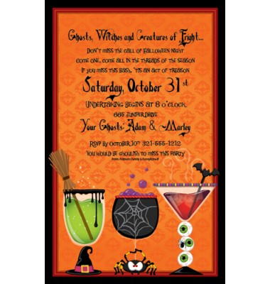 Halloween Invitations, Spirts And Spooks, Paper So Pretty
