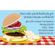 BBQ Invitations, Burger and Chips, Paper So Pretty