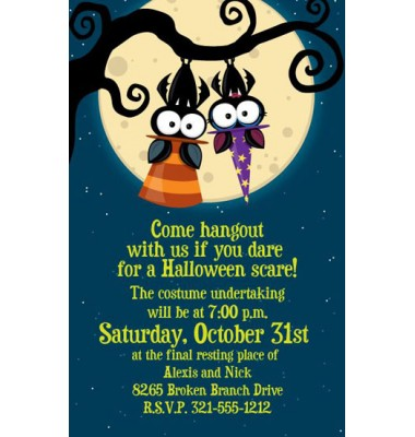 Halloween Invitations, Lets Hang, Paper So Pretty