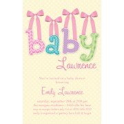 Baby Shower Invitations, Baby Bows Pink,  Paper So Pretty