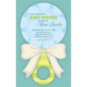 Baby Shower Invitations, Sweet Rattle Blue, Paper So Pretty