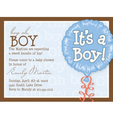 Baby Shower Invitations, It's A Boy