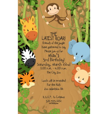 Jungle Invitations, Around The Jungle, Paper So Pretty