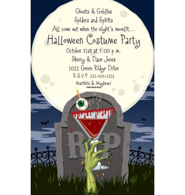 Halloween Invitations, Cocktails To Die For, Paper So Pretty