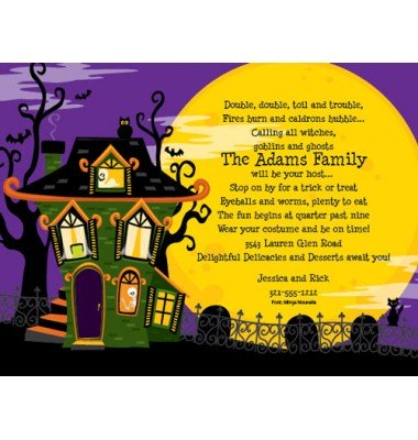 Halloween Invitations, Haunted House, Paper So Pretty