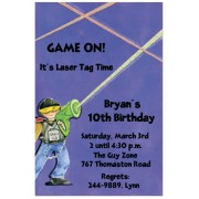 Laser Tag Invitations, Laser Tags, Picture Perfect