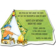 Sleepover Invitations, Camping Tent, Picture Perfect