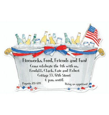 4th Of July Invitations, Patriotic Bucket, Picture Perfect