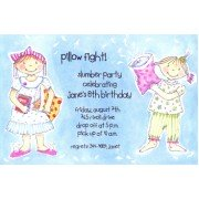 Sleepover Invitations, Pillow Fight