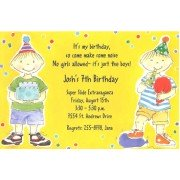 Boy Birthday invitation, Double The Fun, Picture Perfect