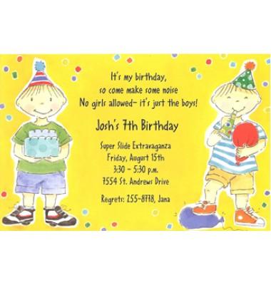 Boy Birthday invitation, Double The Fun, Picture Perfect