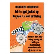 Monster Truck Invitations, Monster Wheels, Picture Perfect