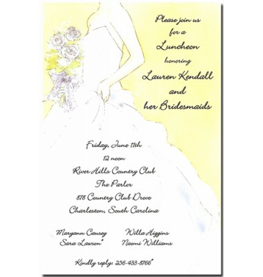 Bridal Shower Invitations, Here Comes The Bride, Picture Perfect