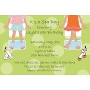 Spa Party Invitations, Mani / Pedi, Picture Perfect