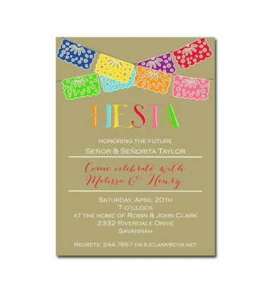 Fiesta Invitations, Fiesta On Kraft, Picture Perfect