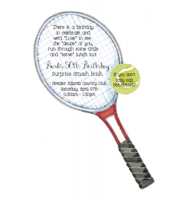 Party Invitations, Tennis, Picture Perfect