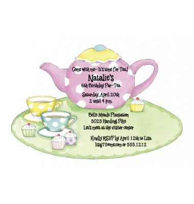 Tea Party Invitations, Teapot And Cup, Picture Perfect